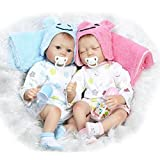 Simulación Baby Twins Reborn Baby Dolls Realista Realista Hecho A Mano De Silicona...