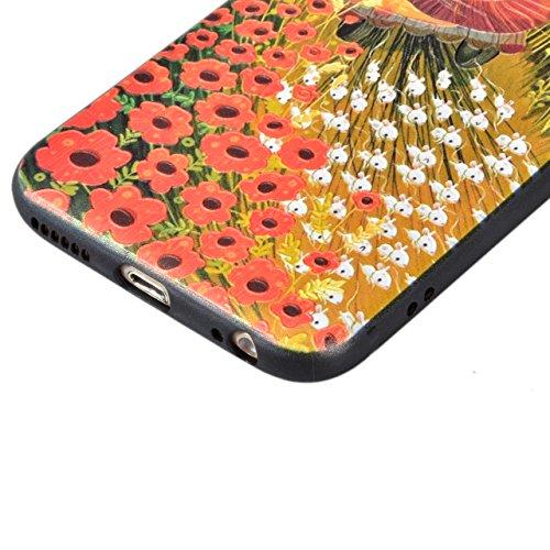 Coque iPhone 6 Plus Case, Coque iphone 6S Plus Case - Sunroyal Coque Souple Transparente TPU Silicone en Gel Flex Shell Premium Ultra Mince Skin de Protection Bumper Cover pour iPhone 6 Plus / 6S Plus Rouge Lion