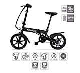 Nilox X2 E-bike, Elektrofahrrad, Herren & Damen Pedelec, E-Bike, Folding Elektrofahrrad, City Elektrofahrrad, 16' Inch, LED lighting, 25 km/h