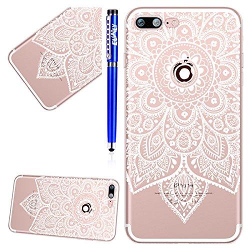EUWLY Cover per iPhone 7 Plus/iPhone 8 Plus (5.5), EUWLY Case per iPhone 7 Plus/iPhone 8 Plus (5.5) Silicone Soft TPU Crystal Clear Custodia Cover Premium Trasparente Protettivo Custodia Case Modell Modello # 9