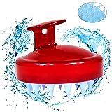 Massaggiatore Cuoio Capelluto, [Bagnato e Asciutto] Spazzola Shampoo del Massaggio Cuoio Capelluto Pettine Morbido in Silicone per Uomini, Donne e Animali Domestici