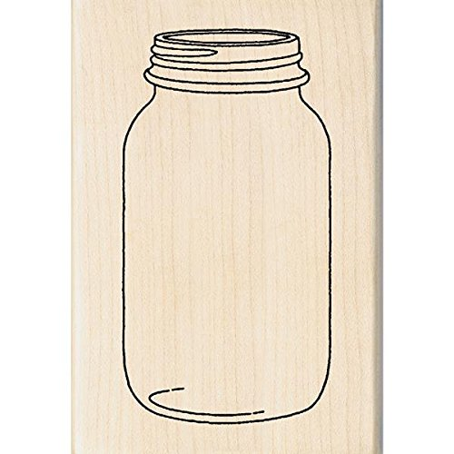 Unbekannt Inkadinkado montiert Gummi Stempel 1x 2,75Zoll, Mason Jar (Mason Tools)