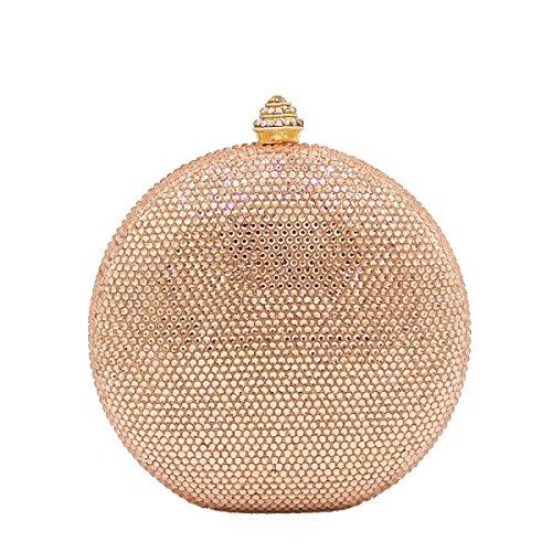 FZHLY Europäische Und Amerikanische Abendtasche Hot Diamond Clutch ChampagneGold