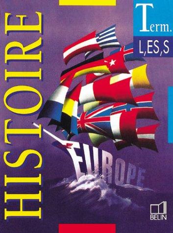 Histoire Terminales L, ES, S (livre de l'élève)