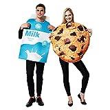 EraSpooky Unisexe Costume de Lait et Biscuit Déguisement Halloween Party Costume Drôle pour Adultes Hommes Femmes Couple