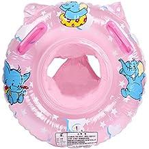 Cadillaps Bouée Siège Gonflable Bébés 6 - 36 Mois Cartoon Eléphants Baignoire Piscine Apprentissage Natation PVC Matériel Sécurité