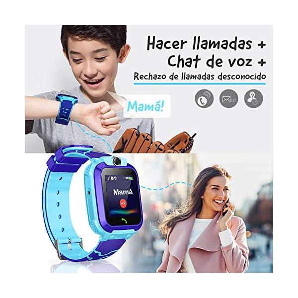 NAIXUES Smartwatch Niños, Reloj Inteligente Niño IP67, LBS, Hacer Llamada, Chat de Voz, SOS, Modo de Clase, Cámara… 3