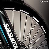 Motoking Fahrrad-Reflektorenaufkleber mit Waben-Reflex-Optik - Weiß - 26 Aufkleber im Set - Breite: 7 mm - reflektierende Felgenaufkleber für Trekkingbike-, Fahrradfelgen & mehr
