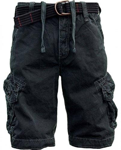 JET LAG Cargo Shorts Take off 3 in schwarz, oliv, charcoal, cement oder gold, Farbe:Schwarz;Größe:W44