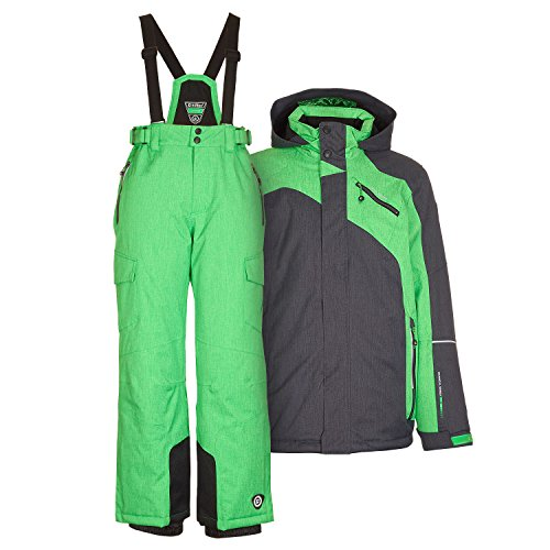 Kinderskianzug Skijacke Samat Jr. grün + Skihose Amir Jr. grün - Gr. 116