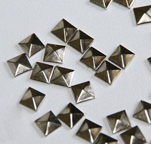 gleader-100pc-hotfix-iron-on-7mm-flat-back-silver-pyramid-studs-1-4-flatback-glue-on-studs