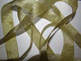 Gold Metallic, Weihnachten, Hochzeit, Basteln, 13 mm X Dekoschleife 3 Meter