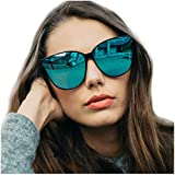 LVIOE Occhiali da sole Polarizzati da Donna Ideali per Guidare - Montatura Confortevole con Protezione UV400 (Celeste)