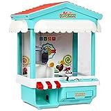 COSTWAY Spielautomat Süßigkeiten Automat Candy Grabber Greifautomat Greifmaschine 33,5 x 21 x 37cm mit USB Kabel (Blau)