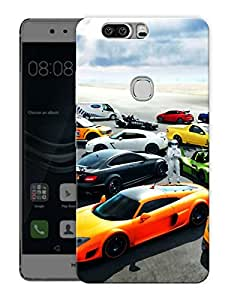 """Humor Gang Cars And Super CarsPrinted Designer Mobile Back Cover For """"Huawei Honor V8"""" (3D, Matte Finish, Premium Quality, Protective Snap On Slim Hard Phone Case, Multi Color)"""