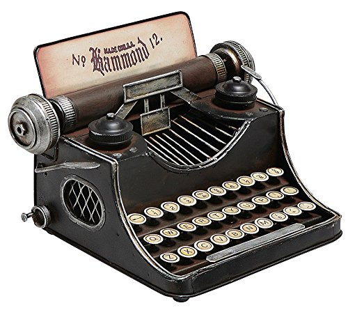 Deko-Woerner Miniatur Schreibmaschine, 16 cm hoch