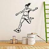 Lozse Fußball Mädchen Sport Menschen Wandaufkleber Aufkleber