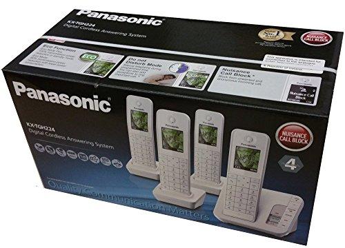 Panasonic kx-tgh224ew Quad Bianco senza fili sistema di segreteria con