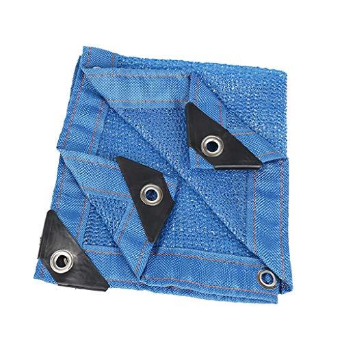 GJM Shop Filet D'ombrage Bleu 6 Broches Polyéthylène De Haute Densité Taux D'ombrage De 85% Anti-UV Filet D'ombrage Charnu (Taille : 1 * 4m)
