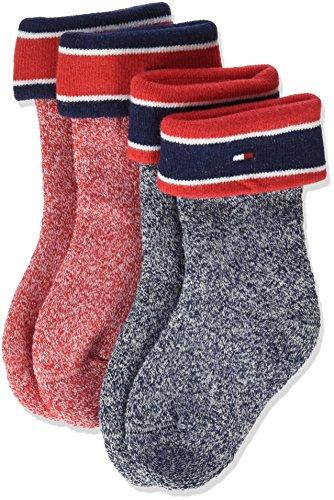 Tommy Hilfiger Unisex Baby Socken TH Mouline 2P 2er Pack, Blau (Midnight Blue 563), 19-22