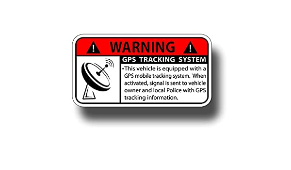 GPS Tracking For Vehicle Car Decals // Stickers  Truck etc