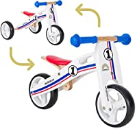 bike*star 17.8cm (7 Inch) Kids Child Learner Balance Running Bike - Wooden - Colour White