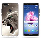 DIKAS Huawei P smart/Enjoy 7S Hülle, Slim Fit Shockproof Flexible 3D Contemporary Chic Design Ultra Thin Lightest Einfach Grip Durable Flex für Huawei P smart/Enjoy 7S (5.65
