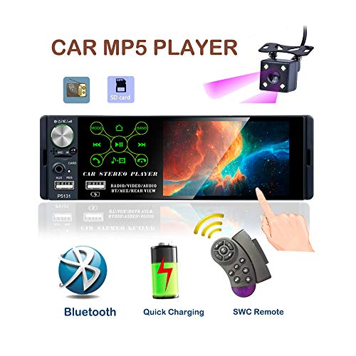 TOYOUSONIC Radio del Coche 1 DIN Reproductor MP5 Autoradio Bluetooth 4.1 Pulgadas...