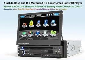 Autoradio HD GPS DIVX DVD MP3 USB SD RDS Bluetooth 3D IPOD PIP disque dur 2 Go avec tuner TNT