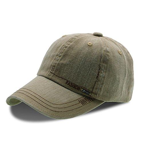 Unisex Cotton Basecap Schirmmütze - UPhitnis Low Profile Texture Baseball Cap Kappe mit Briefstickerei für Männer & Frauen