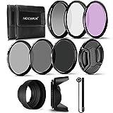 Neewer 52mm Professioneller UV-, CPL-, FLD-Objektivfilter und ND Neutraldichtefilter (ND2, ND4, ND8). Zubehör-Kit für Pentax DSLR Kameras