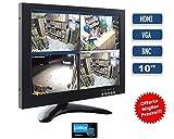 Monitor 10,1Zoll 1080P Farben LCD VGA HDMI BNC Videoüberwachung Video LED