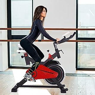 AsVIVA S11 Indoor Cycle Cardio XI mit 14kg Schwungscheibe, Riemenantrieb und Filzbremse, inkl. Multifunktionscomputer mit Handpulsmessung sowie Tablet und Smartphone Halterung