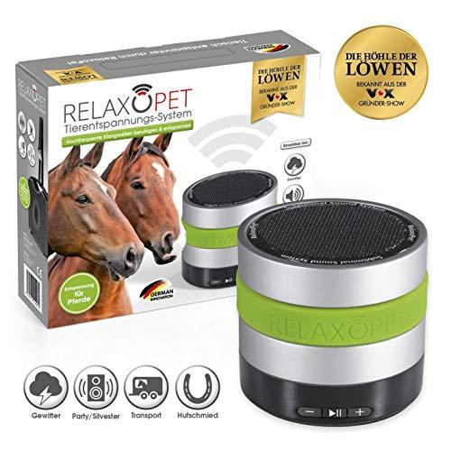 RelaxoPet Tierentspannungs-Trainer | Version für Pferde | Beruhigung durch Klangwellen | Ideal bei Stallunruhe, Stress oder bei Transporten | Hörbar und unhörbar | 5V, kabellos
