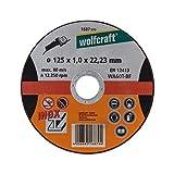 Wolfcraft 1687999 1 Disques à Tronçonner L'inox Ø 125 Mm Alésage Ø 222 Mm Épaisseur Du Disque 1 Mm en 12413