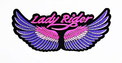 rabana XXL Lady Rider Flügel Engel Flügel pink Motorrad Biker Club Patch Sew Iron on gesticktes Badge Schild Kostüm