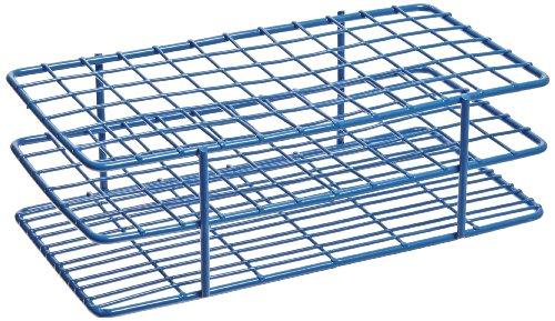 Heathrow Scientific HD120089 Gefäßständer für 13 mm Röhrchen, Epoxy beschichteter Stahl, 6 x 12 Stellplätze, Blau