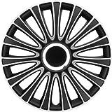 Satz Radzierblenden LeMans 15-Zoll Schwarz/Silber