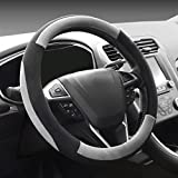 Best Steering Wheel Covers - COFIT Plush Grey Steering Wheel Cover Universal Fit Review