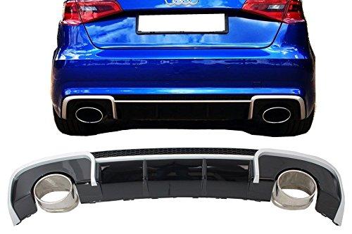 Mantovana diffusore paraurti posteriore Kitt RDAUA38VRSH sport con scarico punte