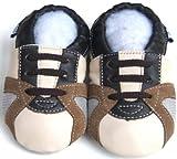 Jinwood - Patucos de Piel para niño, color Beige, talla 21
