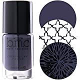 BMC 3pc Perennials Cream Nail Stamping Polish Set - Spring Inspired Highly Pigmented Fingernail Art Lacquer for DIY Manicures Pedicures - Assorted Packs : Dusty Pink, Salmon Pink, Dark Purple