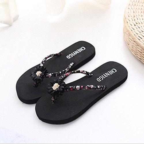 SOMESUN Sandali Pantofole da Donna Le Signore della Moda Massaggio Traspirante Leggero Morbido Infradito Spiaggia Infradito Sandali Infradito Sandali Pantofole da Bagno Nero