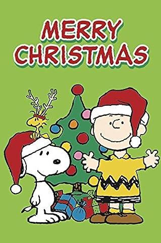 Peanuts Merry Christmas (10,5cm x 15cm) (Snoopy Charlie Brown Christmas)