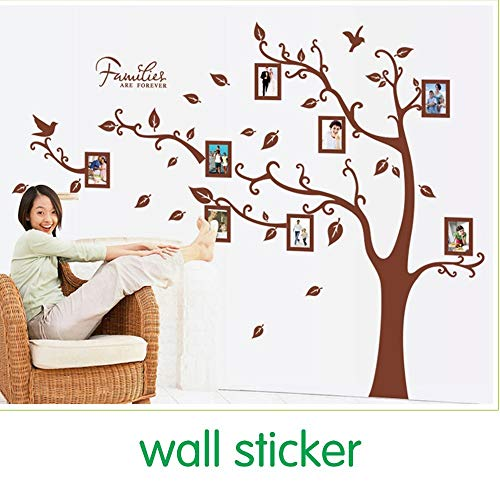 QIFDSVD Wandaufkleber Finished Brown Family Photo Frame Record Forever Memory Original Pvc Creative Wall Decals