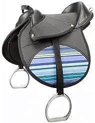 Kool Elico Kidz ensilla (elegir tres colores) - incluye nylon cueros y hierros Navy striped