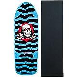 "POWELL PERALTA Re-Issue Skateboard Deck OG Ripper 3 Blue 10"" W/ Grip"