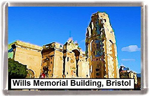 Kühlschrankmagnet Bristol Wills Memorial Building Geschenk Tourist Souvenir Bristol Memorial