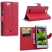 Guran® Funda de Cuero Para ZTE Blade L2 Smartphone Tirón de la Cubierta de la Función de Ranura Tarjetas y Efectivo Caso