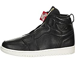 Nike Damen WMNS Air Jordan 1 High Zip Fitnessschuhe, Mehrfarbig (Black/Sail/University Red 016), 38.5 EU